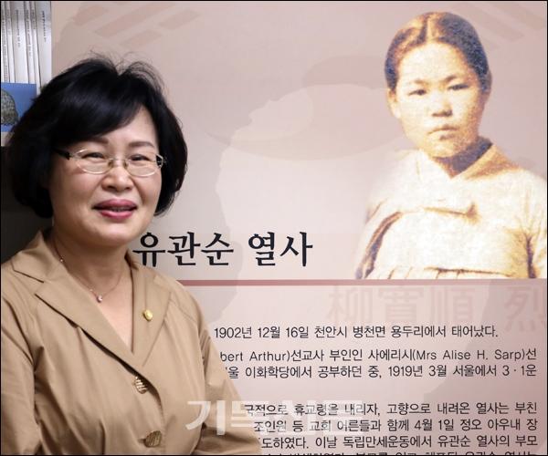 유관순의 애국신앙을 계승하는 연장선상에서 한국교회의 향후 진로를 찾아야 한다고 강조하는 유관순연구소 소장 박종선 교수.