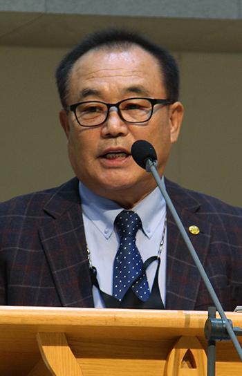 호남중부지역장로회협의회 초대 회장으로 선출된 원태윤 장로.